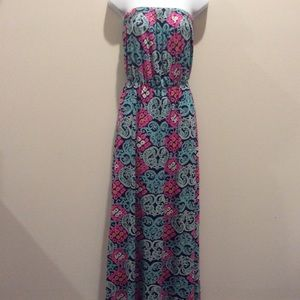 LILLY PULITZER STRAPLESS MAXI DRESS SIZE S